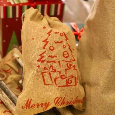 크리스마스 패브릭 선물자루 (소형 / 트리)