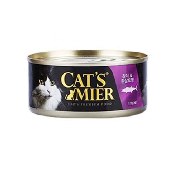 캣츠미어 참치흰살토핑170g 고양이캔