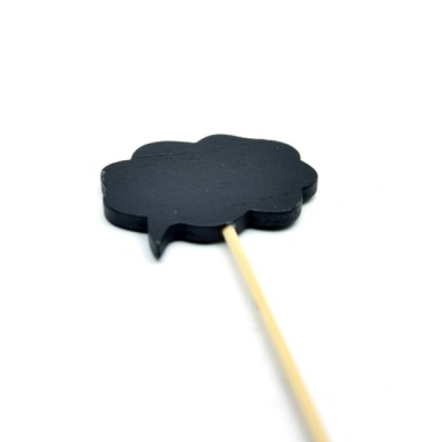 화분 데코레이션용 픽 (양면칠판-구름) 5개1셋트