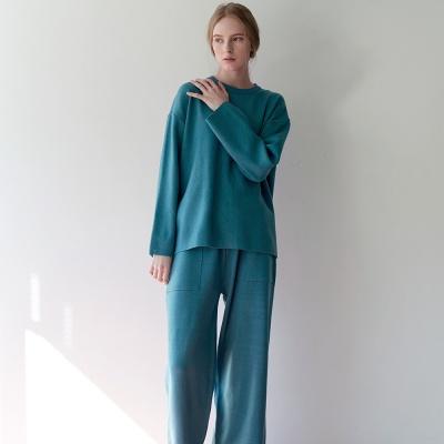 클레어 니트 셋업 - 블루
