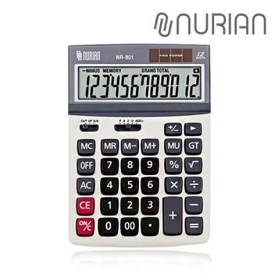 누리안 NR-801 탁상용 계산기 12자리