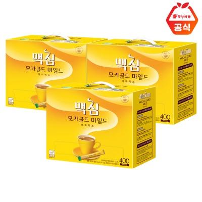 맥심 모카골드 마일드 400T 3개 / 대용량 커피믹스