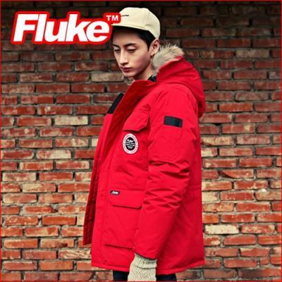 [플루크 패딩] 익스페디션 몬테로사 리얼라쿤 야상 패딩 점퍼 레드 FPJ1505-RED (FP1030) FLUKE 15FW