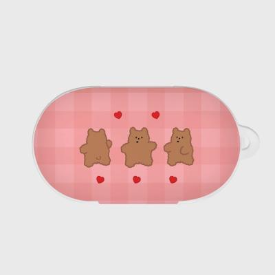 pink fluffy gummy 갤럭시 버즈케이스