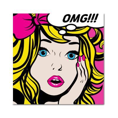 DIY 페인팅 놀란 핑크리본소녀 PB18 (25x25)