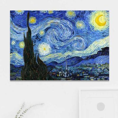 주문제작 액자 고흐 The Starry Night 841x594x30mm
