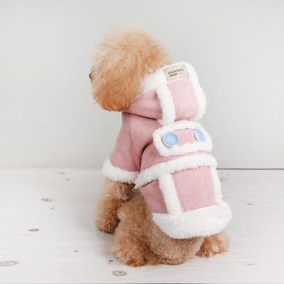 강아지겨울옷 포인트후드무스탕