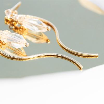 흰금강초롱꽃 귀걸이