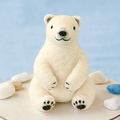 하마나카 북극곰 양모펠트