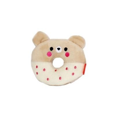 펫투유 우쭈쭈 큐티도넛 삑삑이 장난감 1개 곰