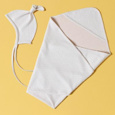 (베이직)(출산준비 시리즈) 속싸개,모자 SET (도트) DIY