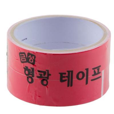 형광 테이프 25㎜ x 2m 빨강 1팩2入 146357