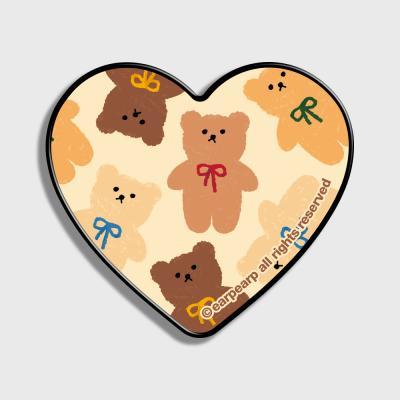 Dot ribbon bear-ivory(하트톡)