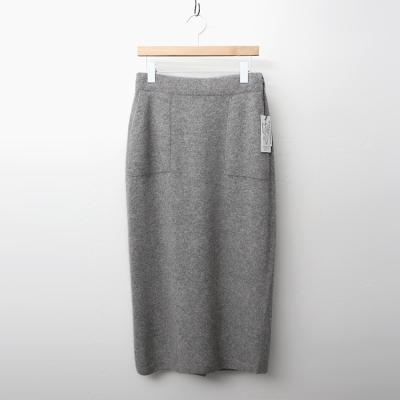 Maille Raccoon Wool Pocket Long Skirt