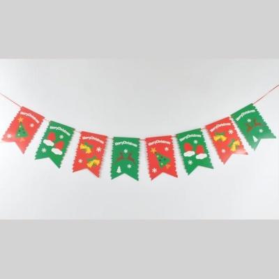 크리스마스장식 배너 가랜드 페넌트레드그린 방꾸미기