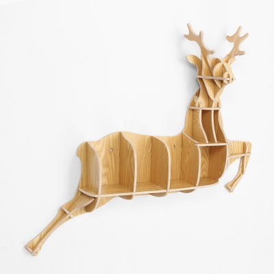DIY 사슴 동물모형 선반 책장 인테리어 벽선반