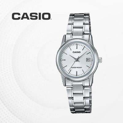 카시오 아날로그 메탈 여성 손목시계 LTP-V002D-7A