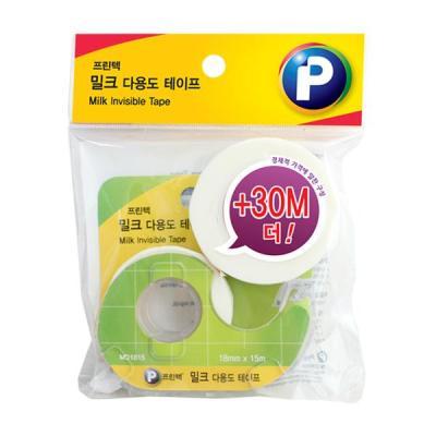 [프린텍] MA1830_밀크 테이프/18mmx15m+18mmx30m/2EA