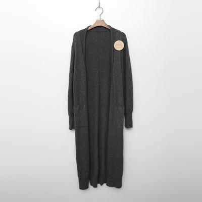 Alpaca Wool Pocket Long Cardigan