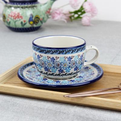 폴란드그릇 아티스티나 티잔&소서세트 200ml 패턴2075