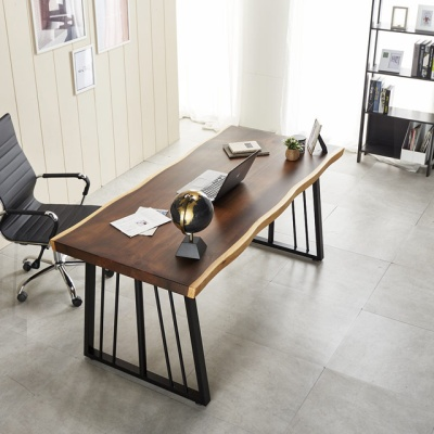 폭600 책상 컴퓨터책상 2000 우드슬랩 테이블