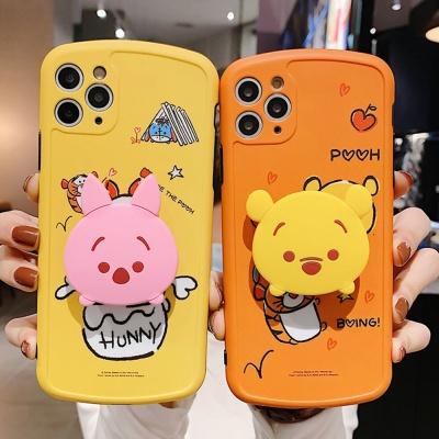 아이폰 곰돌이 돼지 캐릭터 그립톡 범퍼 실리콘케이스