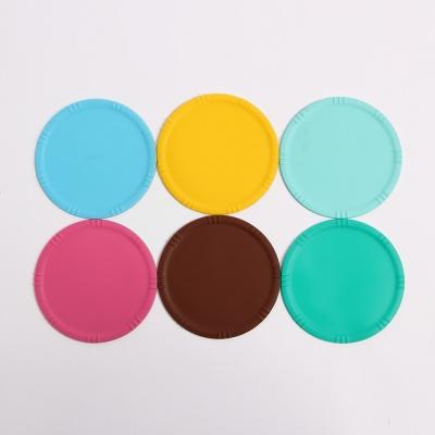 안심 실리콘 컵받침 6p세트