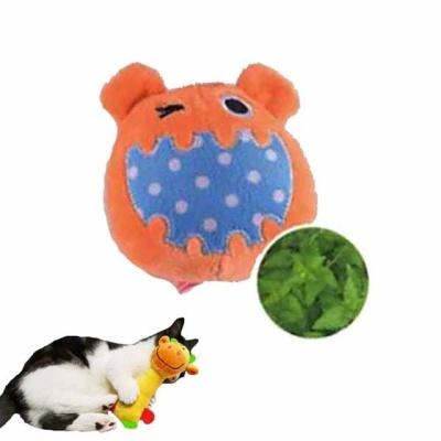빅마우스 캣닢인형 고양이장난감 (오렌지)