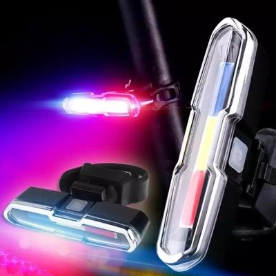 LED COB 충전식 자전거 후미등 라이트 안전등 전조등