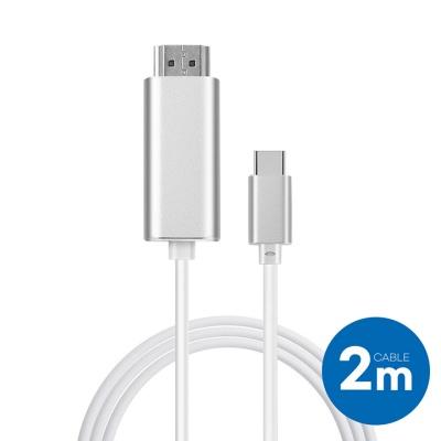 메탈 타입C->HDMI 미러링케이블(2M)_B2058HTC