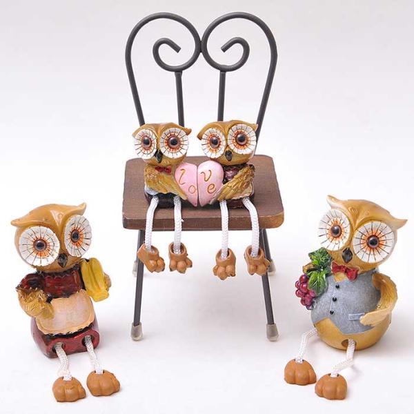 Lovely Owl family 4P 장식인형 CH1544860