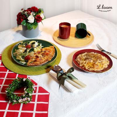 크리스마스 골드라인 접시&머그 4p set
