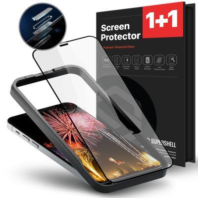아이폰13 공용 풀커버 강화유리 액정필름 2매_sq0141