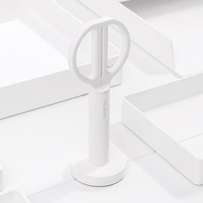 [무료배송]무지 심플 화이트 사무용 가위 17cm