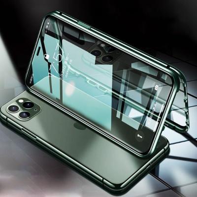 갤럭시s10/5g/강화유리 마그네틱 투명 메탈범퍼케이스