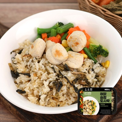 [허닭] 슬림도시락 시래기밥&닭가슴살큐브 1+1