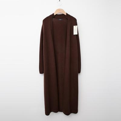 Laine Cashmere Wool Collar Long Cardigan