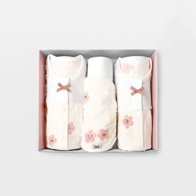 [메르베] 벚꽃 백일선물세트(7부내의+슈트+모자)