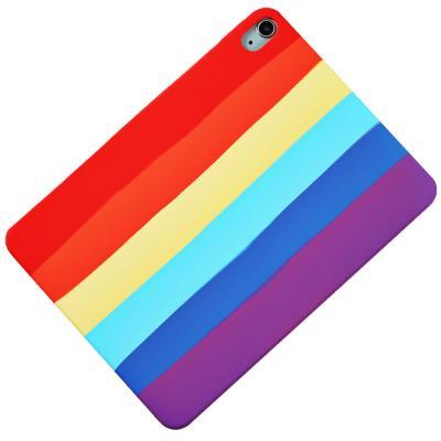 T071 아이패드7 10.2 레인보우 실리콘 태블릿 케이스