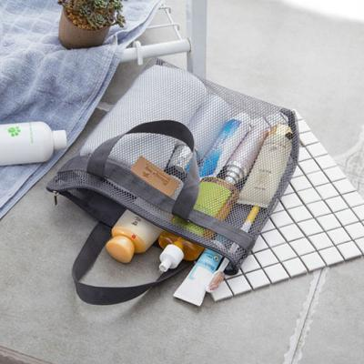 [트래블이지]메쉬비치백,메쉬목욕가방