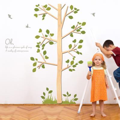 우드스티커- 바람나무 (반제품) W481 포인트 월데코