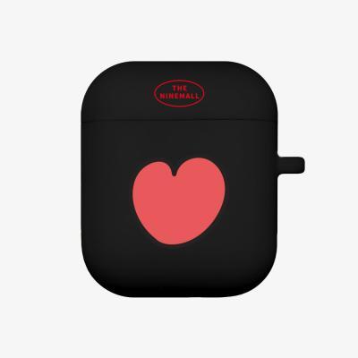 heart pattern 에어팟 케이스 [black]