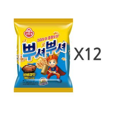 [오뚜기] 뿌셔뿌셔 바베큐맛 (90g) x 12