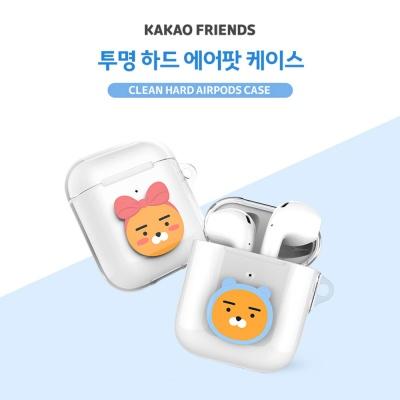 카카오프렌즈 투명 하드 에어팟2 케이스