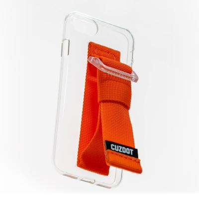 [커즈닷] 투명 클리어 스트랩 폰케이스/오렌지