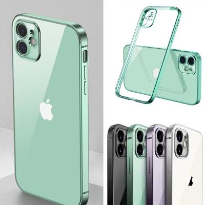 아이폰xr xsmax x 컬러 라인 투명 젤리 핸드폰 케이스