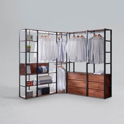 도이츠 철제 드레스룸 코너형 선반 옷장 풀세트 B형 (