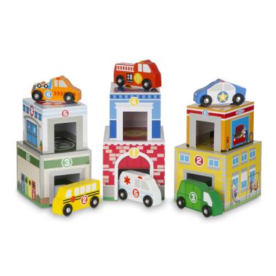 특수차량과 주차장 쌓기 놀이