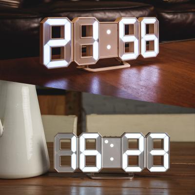 오리엔트 입체 화이트 LED 밝기조절 디지털탁상시계