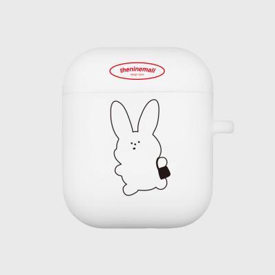 rabbit 에어팟 케이스[white]